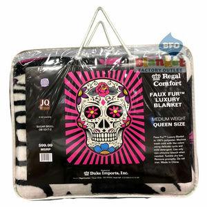 Sugar Skulls Queen Size Blanket NEW